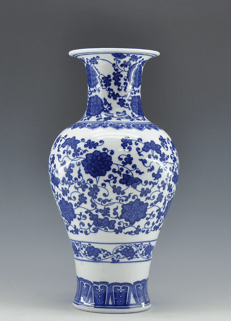 Cuadro chino azul