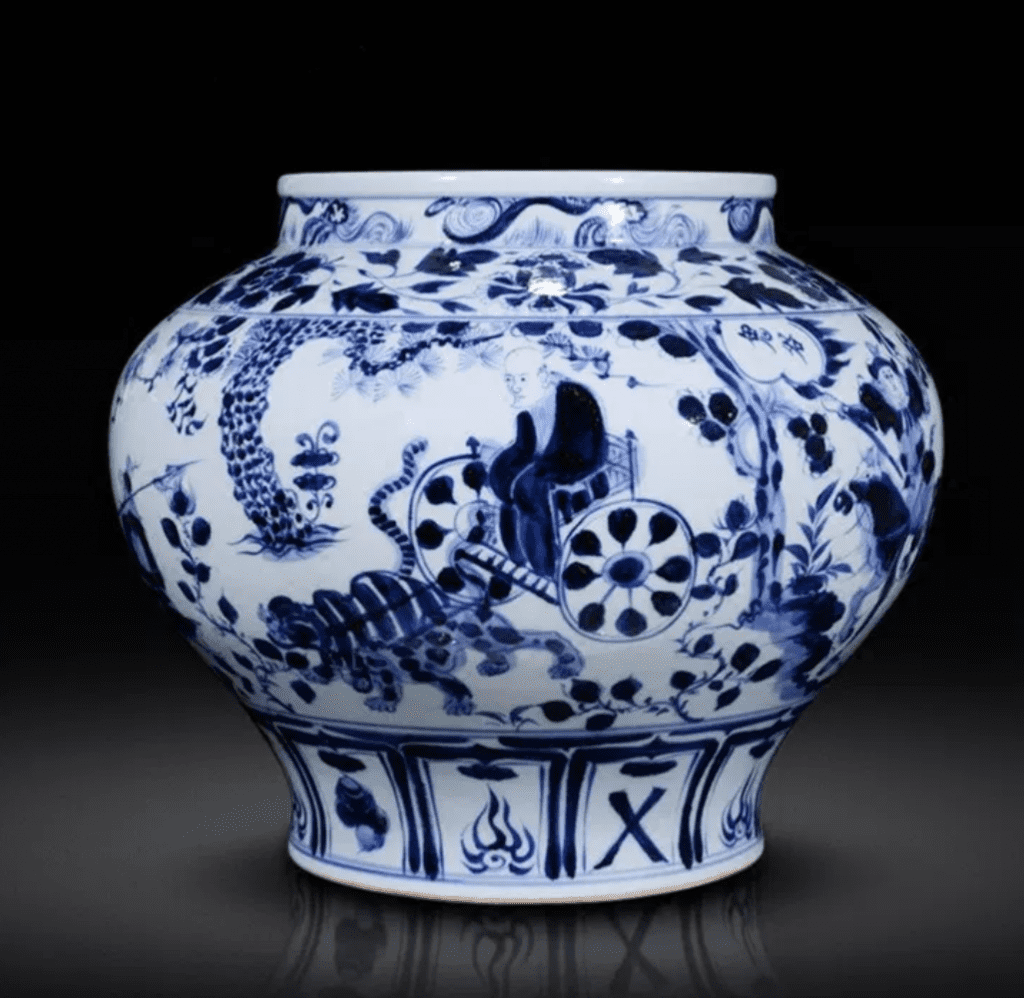 Búcaro Chino azul de porcelana porcelana jingdezhen
