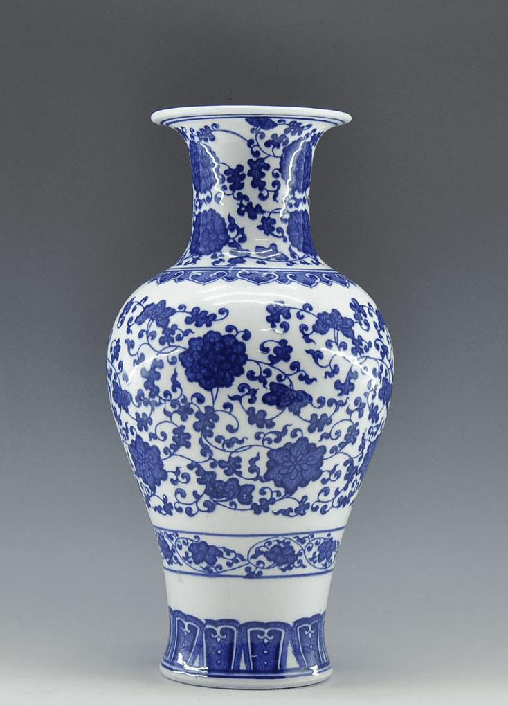 Cuadro chino pequeño azul